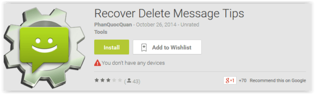 Recover Delete Message Tips