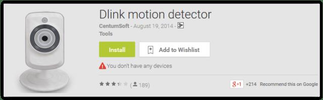 Dlink motion detector
