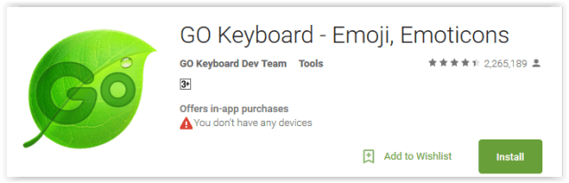 Go Keyboard - Emoji, Emoticons