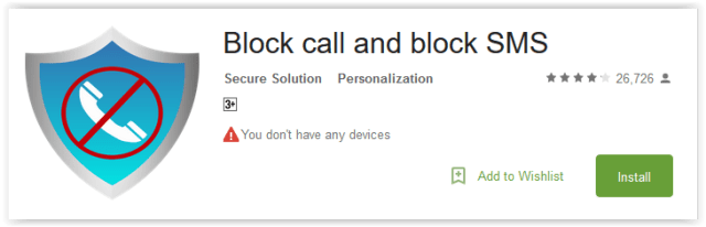 Block call and block SMS