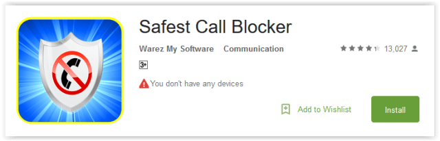 Safest Call Blocker
