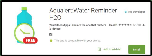 Aqualert Water Reminder H2O