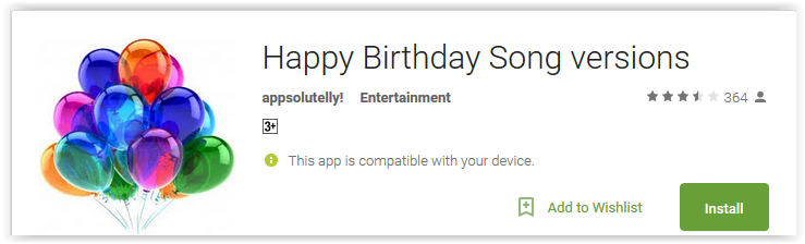 Happy Birthday Song versions