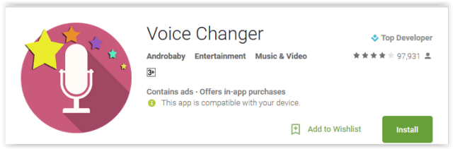 Voice Changer by Androbaby