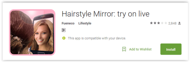 Hairstyle Mirror try on live
