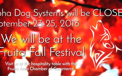 We will be closed for the Fruita Fall Festival