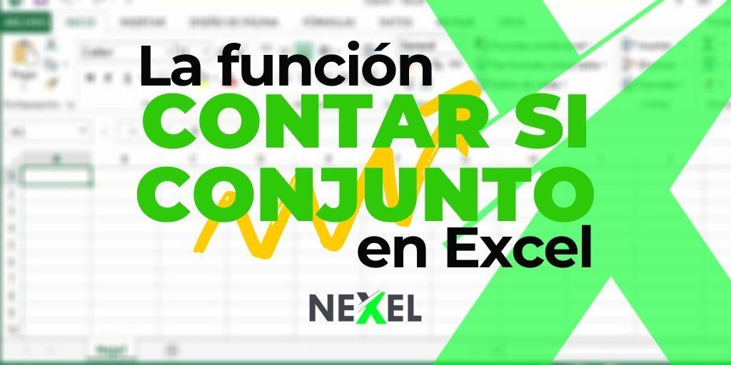 Función CONTAR SI CONJUNTO en Excel 【 EJEMPLOS/ SINTAXIS/ VIDEO 】