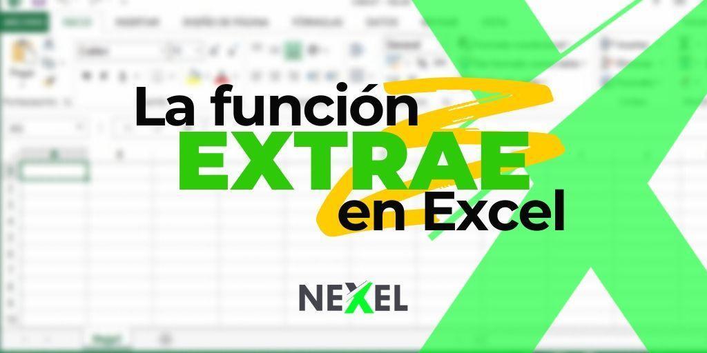 Función EXTRAE en Excel【 EJEMPLO/ SINTAXIS/ PARÁMETROS 】
