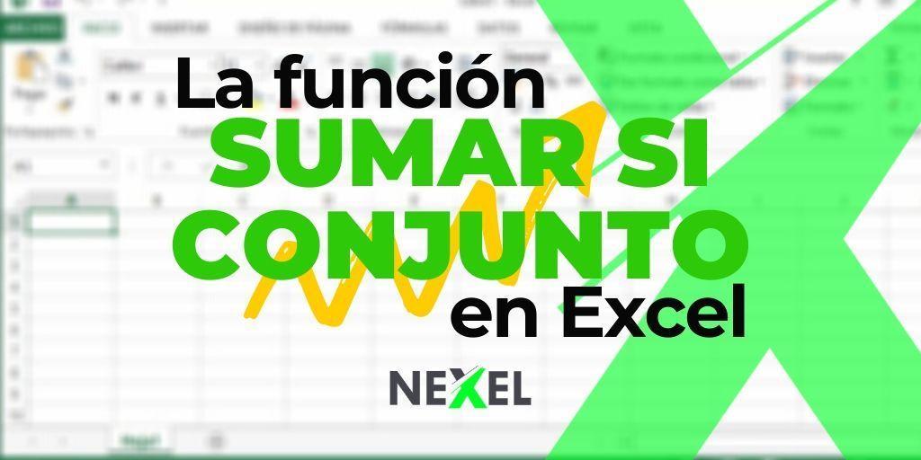 Función SUMAR SI CONJUNTO en Excel 【 SINTAXIS & VIDEO 】