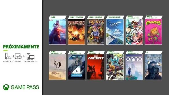 Xbox Games Pass Julio 2021