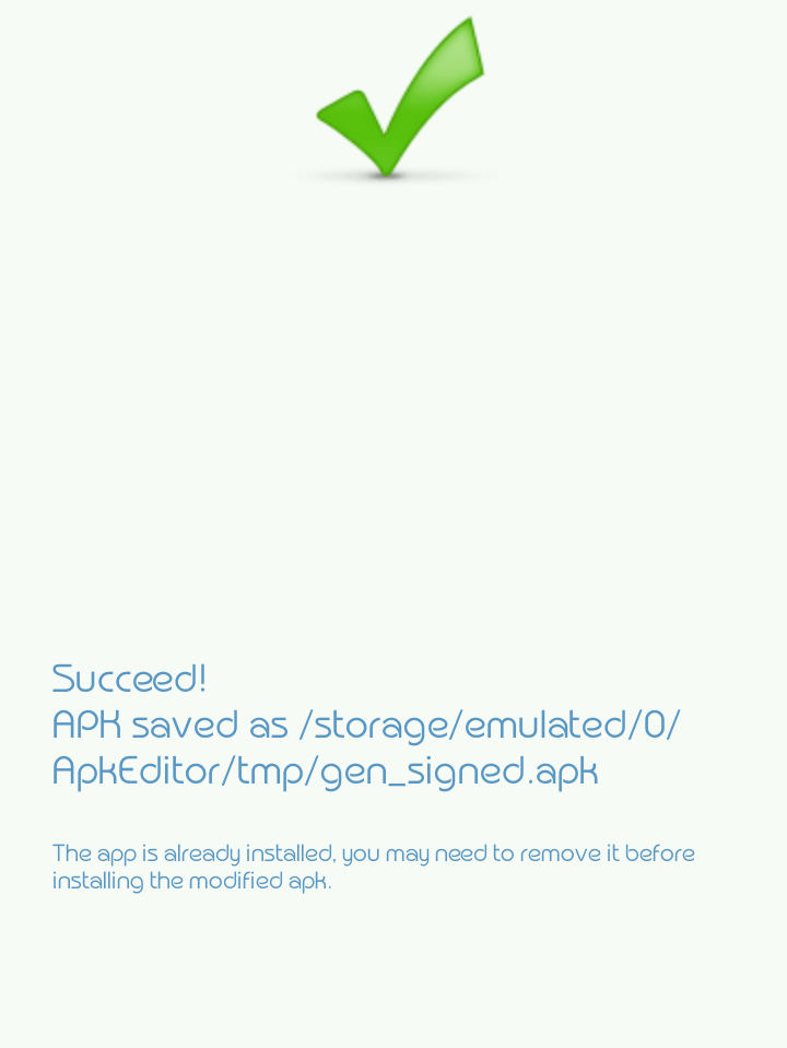 Notification after successfully changing the name of an app