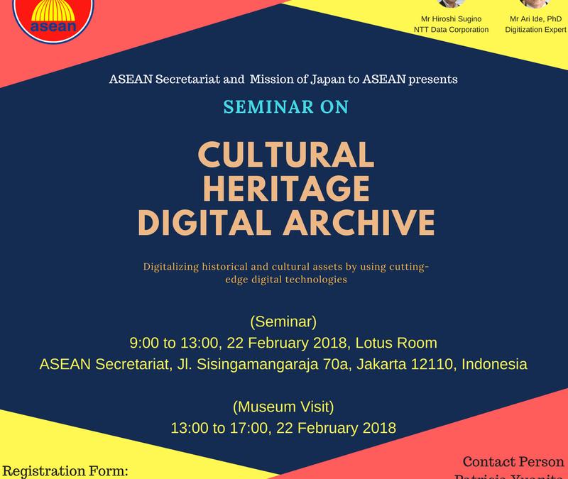 ASEAN-Japan Seminar on Cultural Heritage Digital Archive
