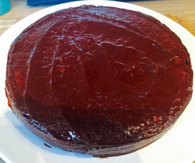 BBQ Kuchen mit Schokoglasur