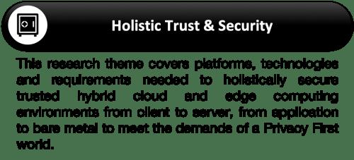 S-Research Agenda 2019 Focus 4-Holistic Trust Security