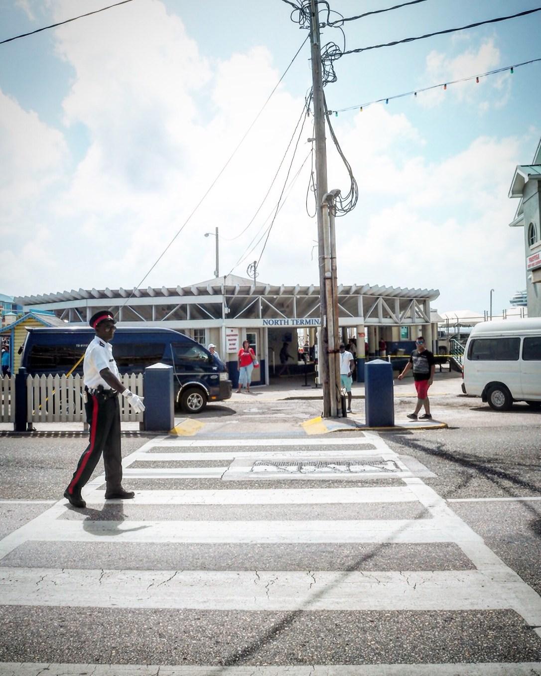 a traffic warden in Georgetown Grand Cayman