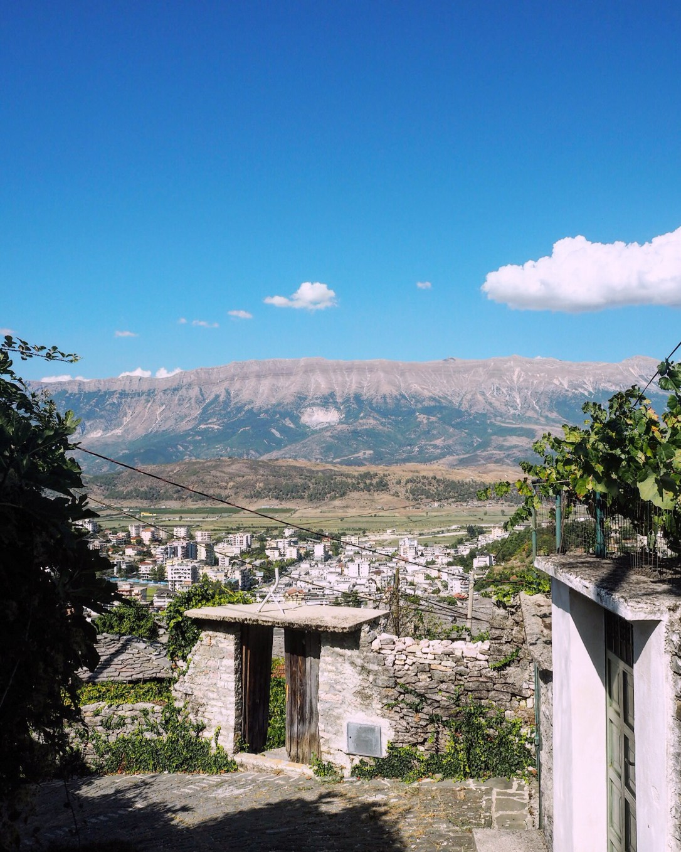 View of the valley in Gjirokastër