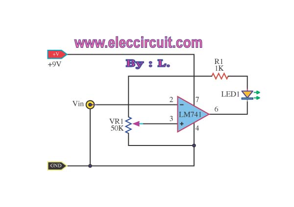 > Circuits > Battery Voltage Monitor Circuit By LM339