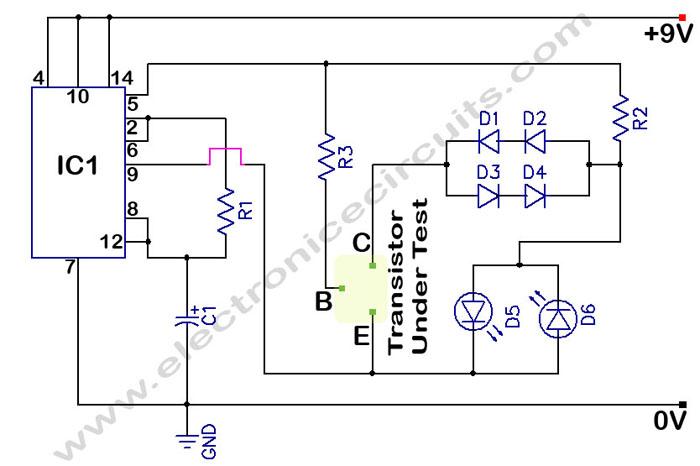 > Circuits > In Circuit Transistor Tester L41521