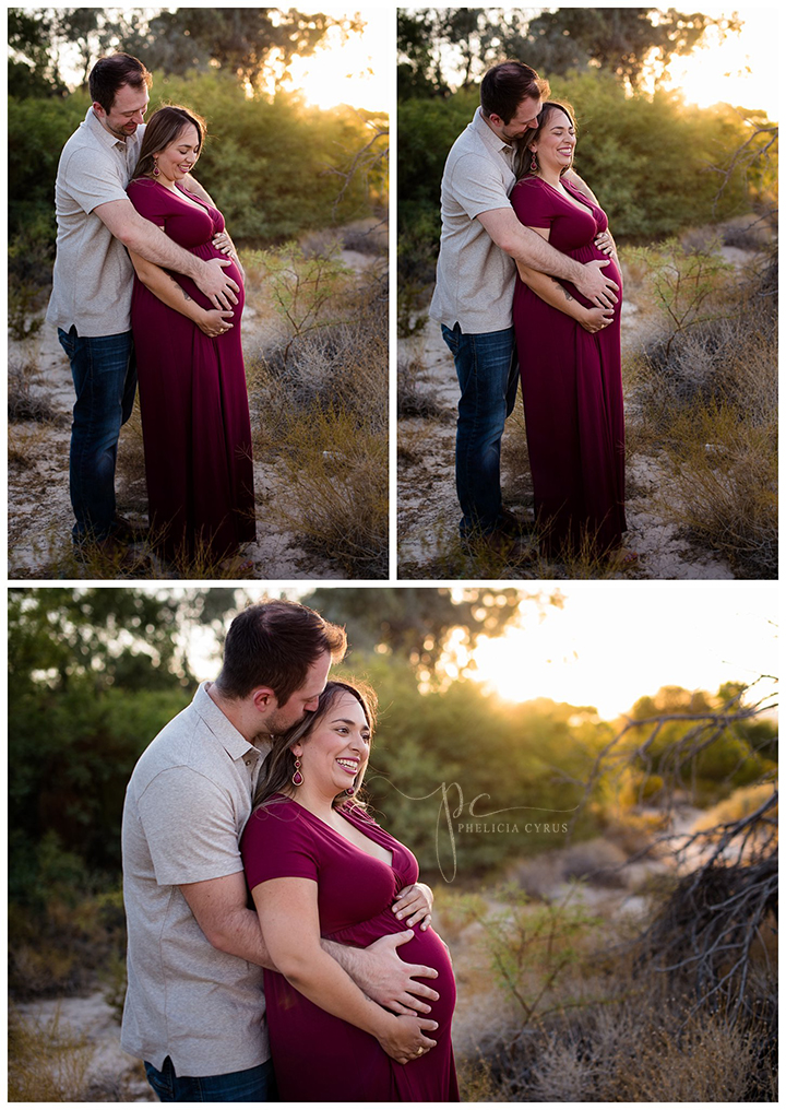 sunset maternity session at floyd lamb park