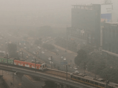 Winter pollution in Gurgaon