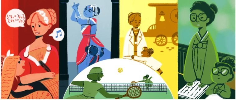 HappyWomansDay: The Google Doodle.