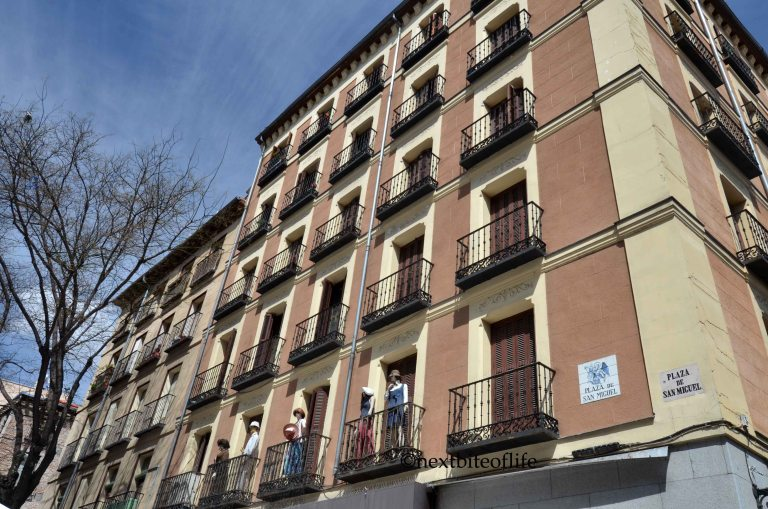 madrid balconies with dummies