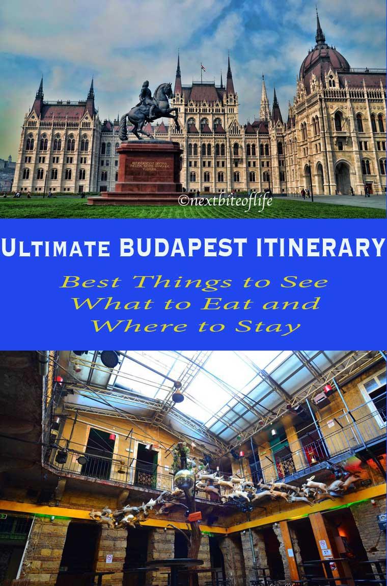 Budapest itinerary pinterest