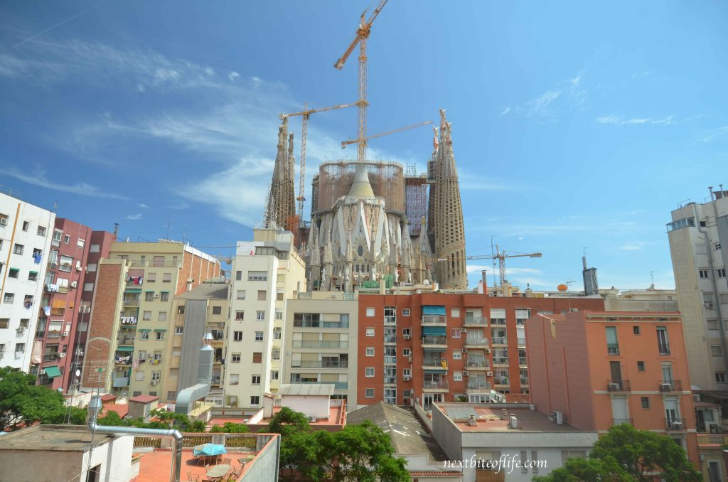 View from our room of the Sagrada Familia