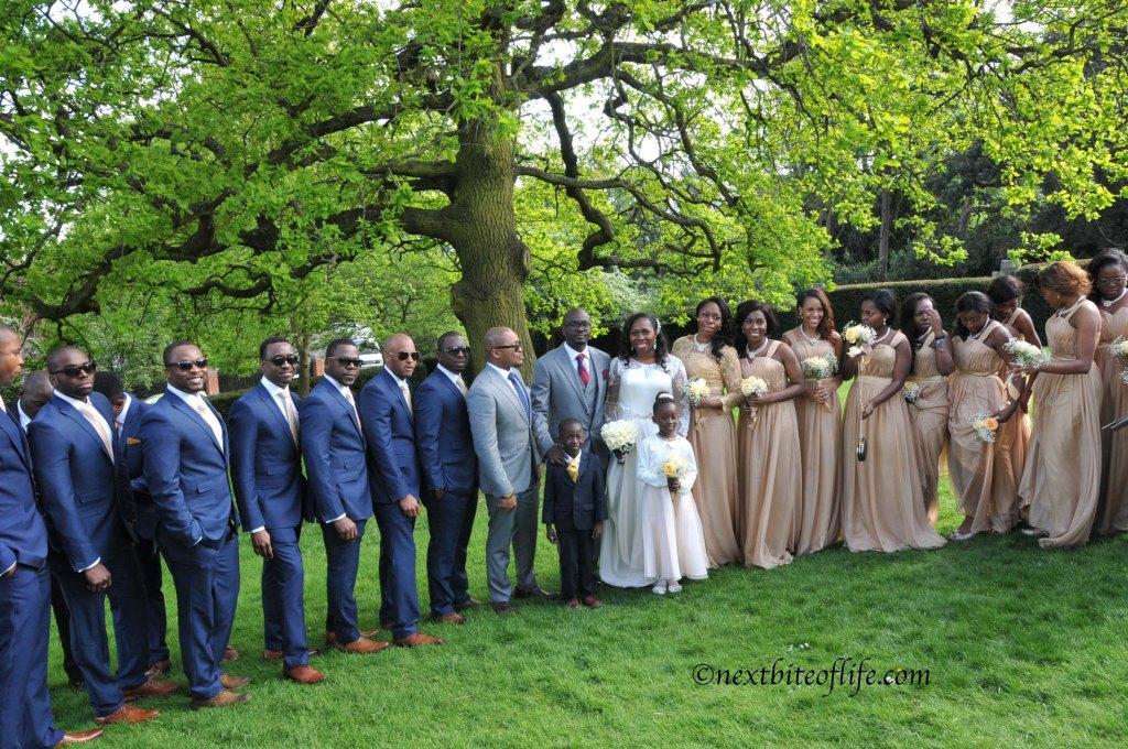 London wedding bridal party