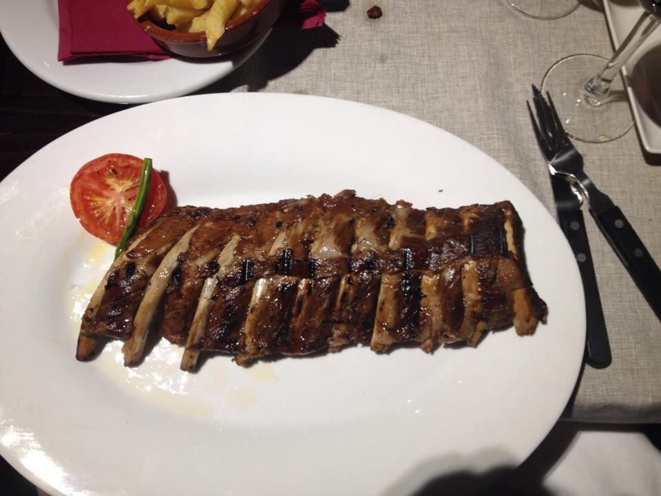 plate of ribs buenos aires grill barcelona