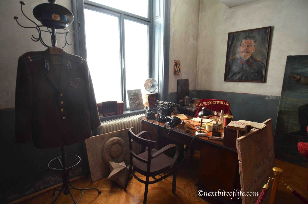 I think this was Gabor Peter's office, the leader. Later imprisoned, but unfortunately released years later.