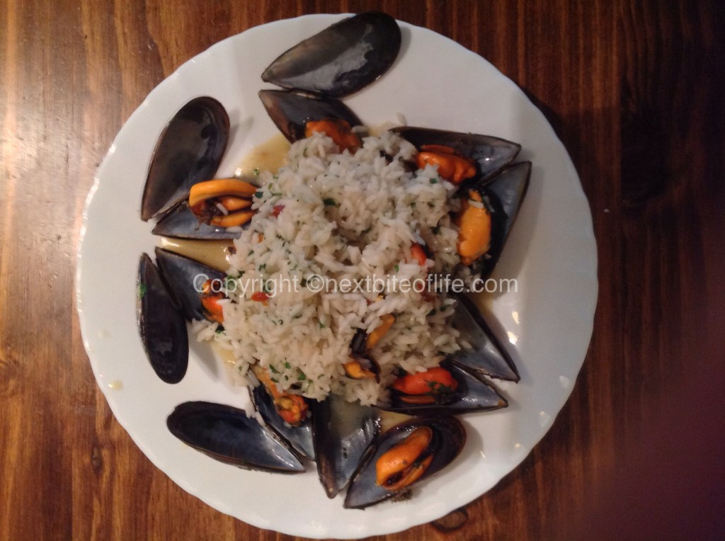 Risotto with mussels..one of my favorites