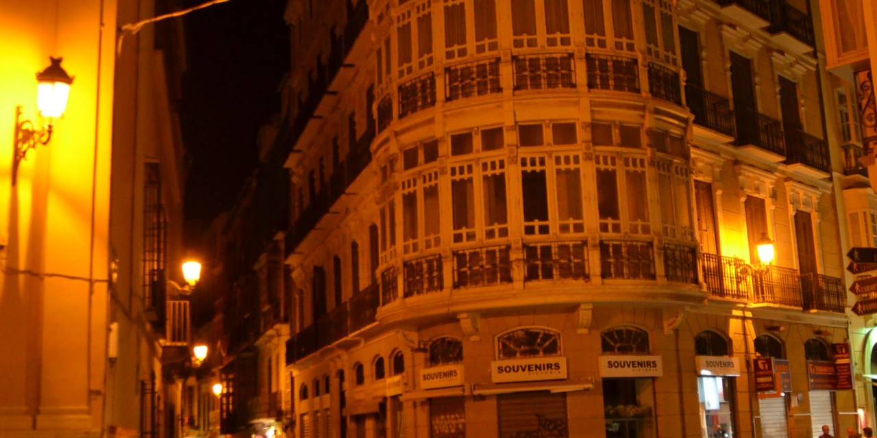 Malaga at midnight, a walk through the center
