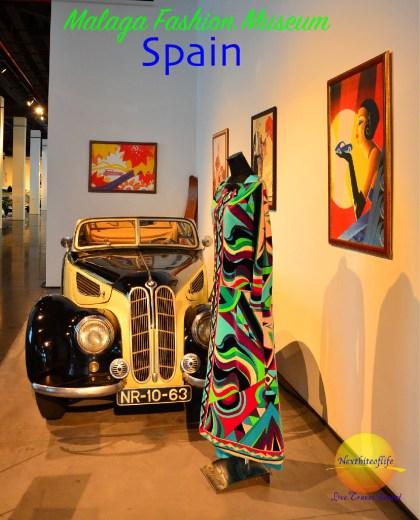 pucci dress and car at #fashionmuseumMalaga #malaga #spain #fasionmuseum #mustvisitmalaga