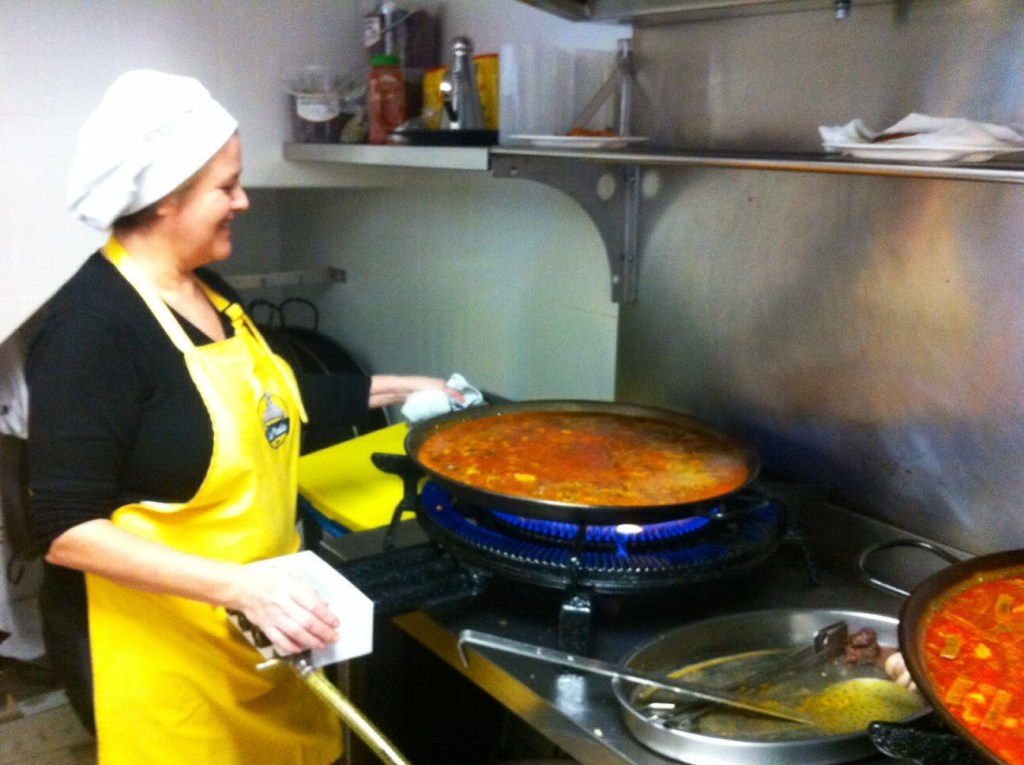 Paella Seville cooking