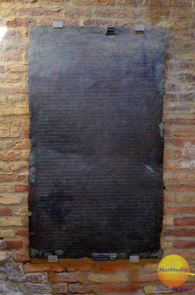 Gladiator Table at italika ruins