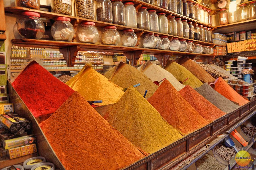 Marrakesh spices in souk