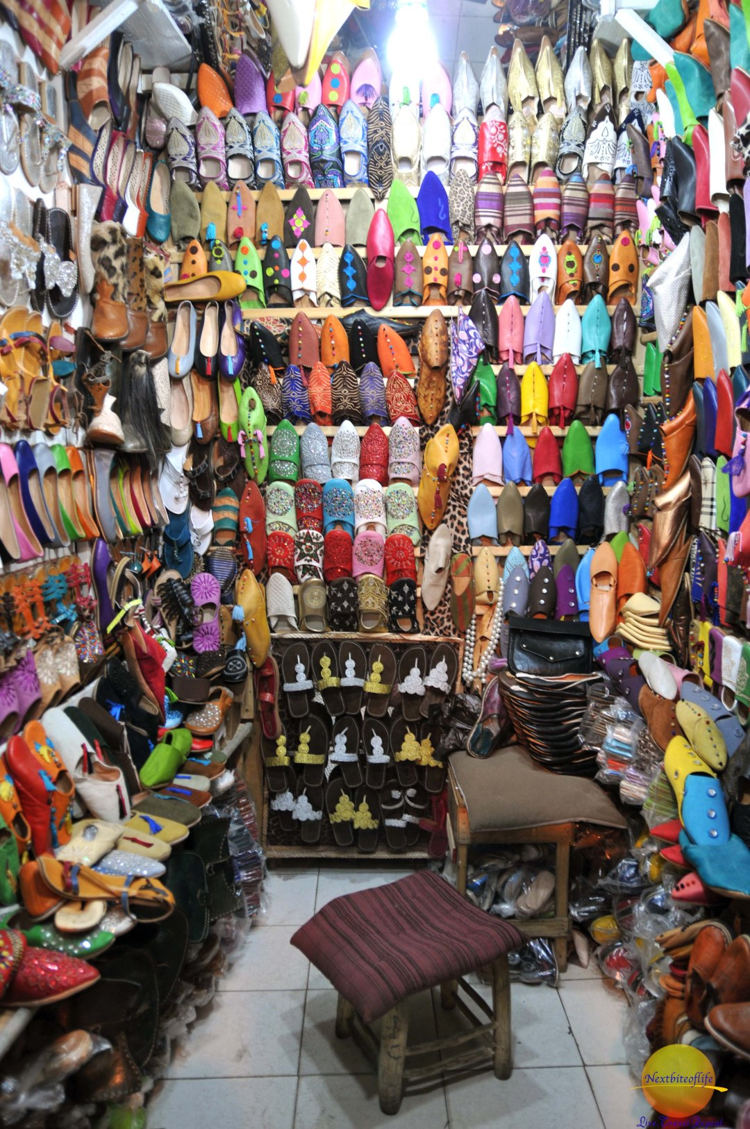 A typical shoe store in the Medina..