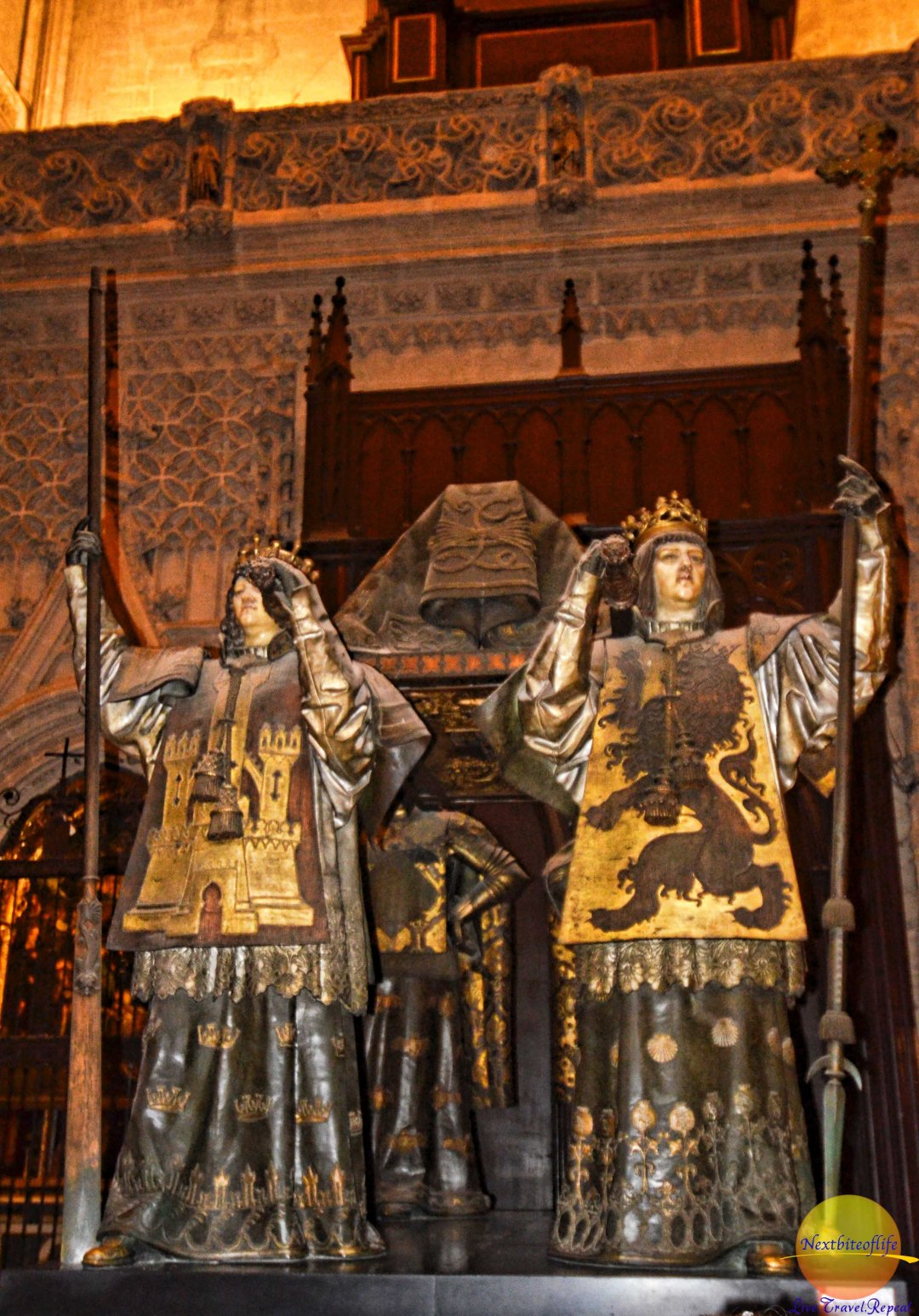 christopher columbus tomb at seville cathedral