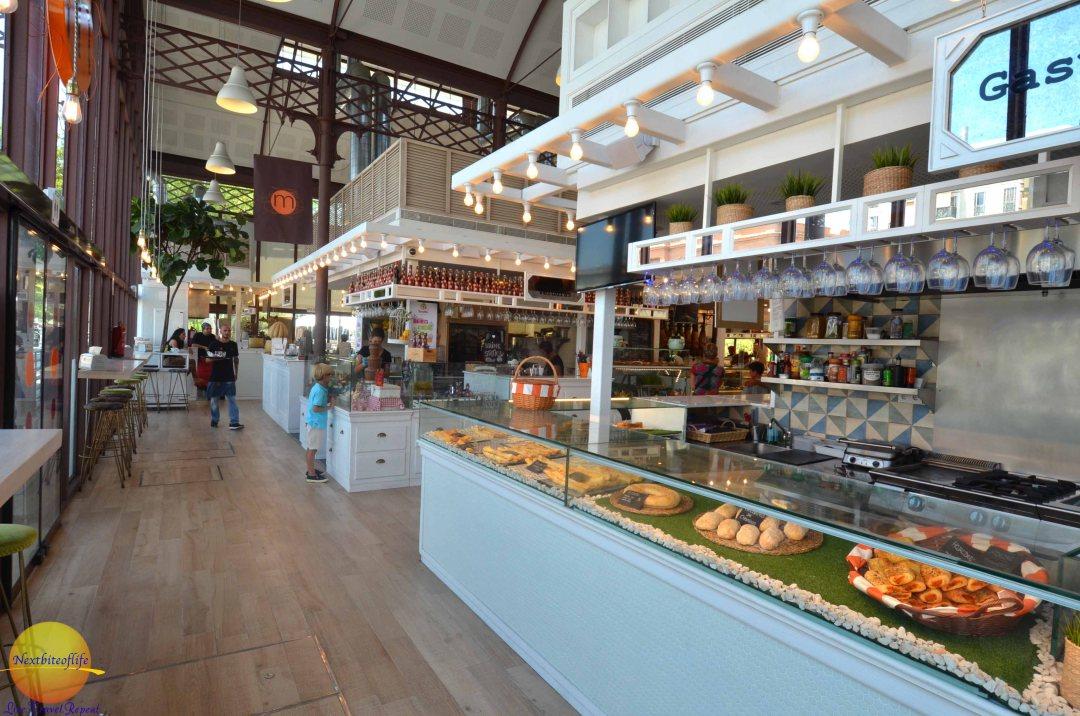 Checking out the goodies at mercado barranco