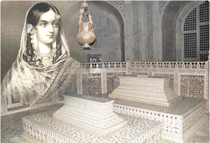 Wikipedia image of the tombs..Mumtaz was pretty, was she not?