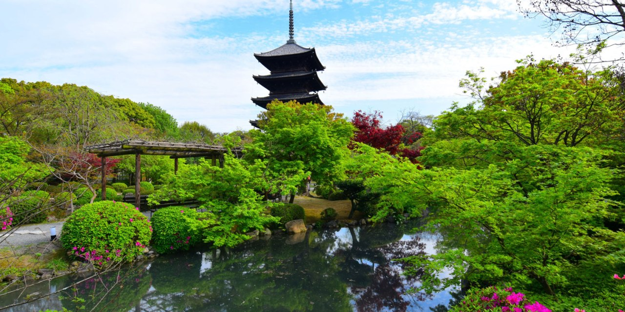 Toji Temple in Kyoto, Japan – A Postcard