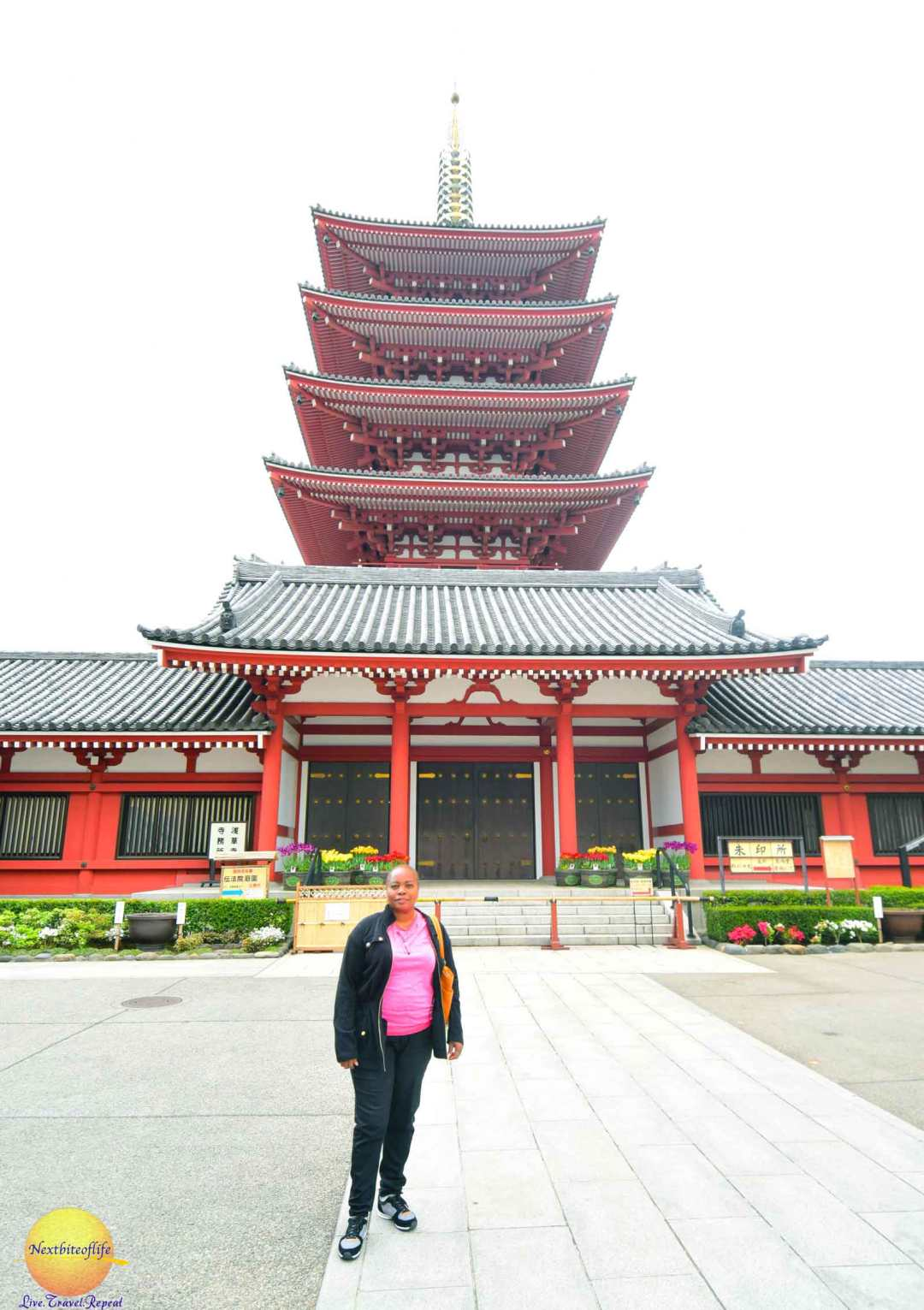 The pagoda behind me.