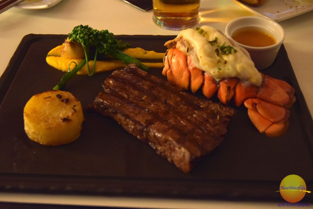 I had the surf and turf meal.