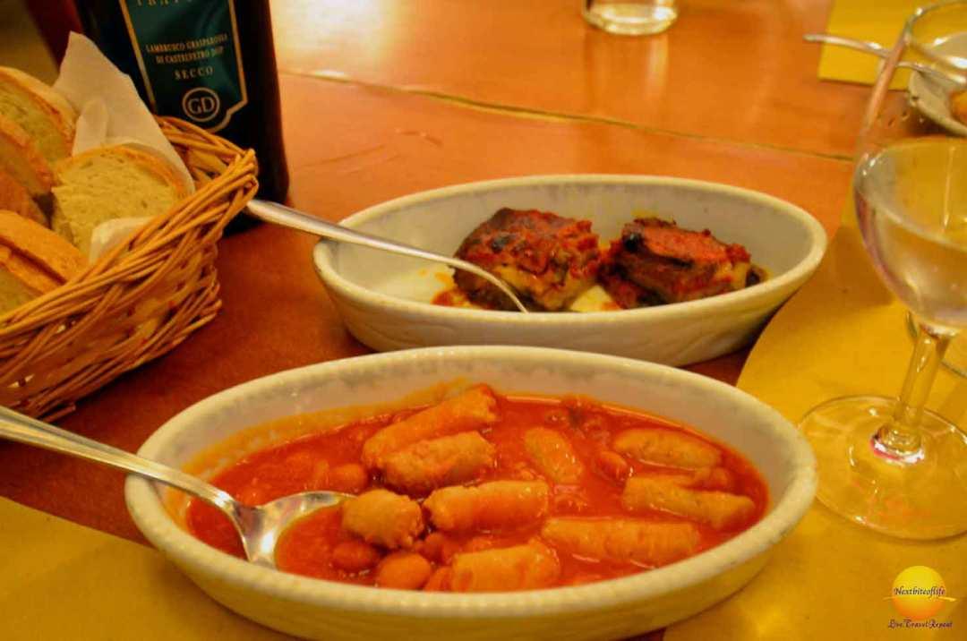 sausage dinner bologna Italy