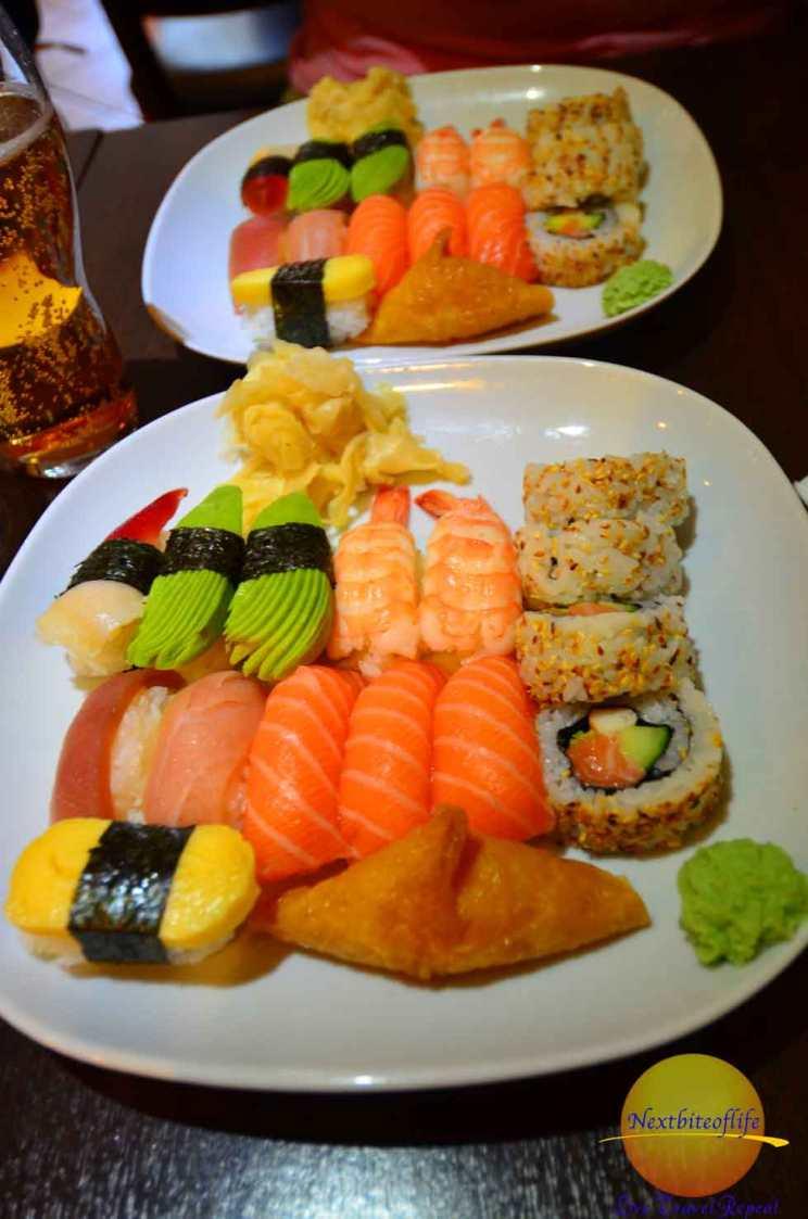 stockholm sweden surprises- sushi plates