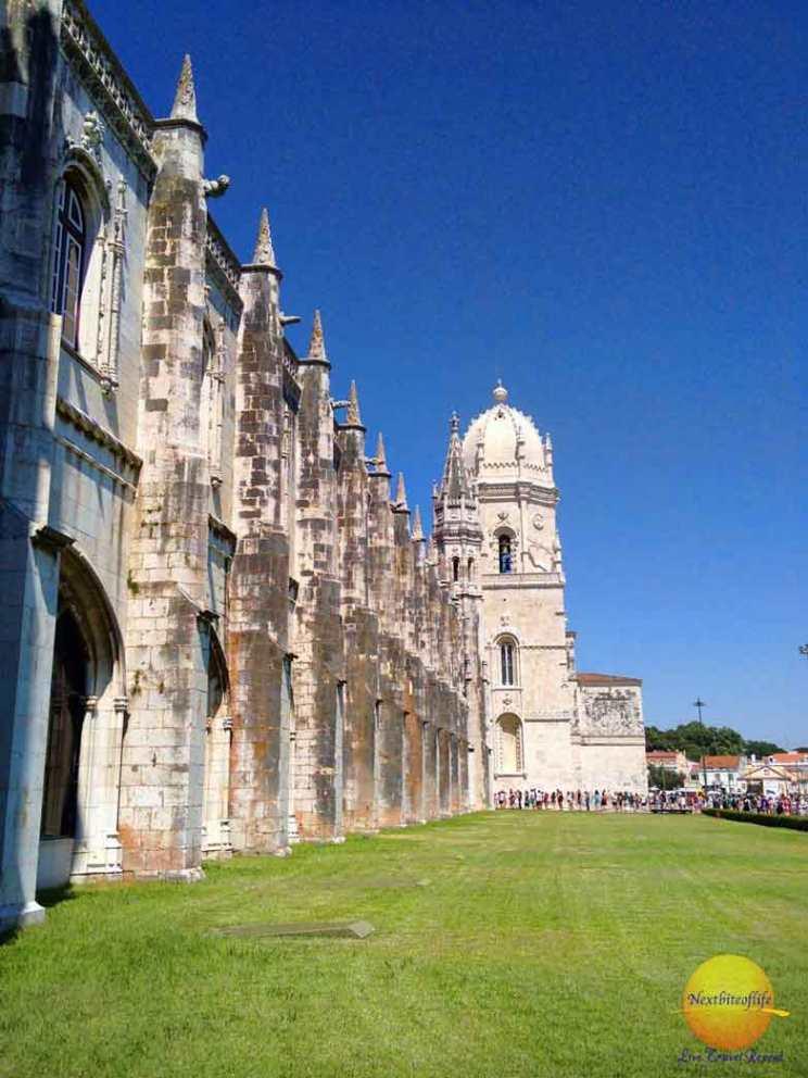 jeronimos monastery in belem portugal line