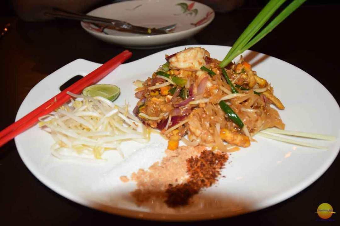 Pad-Thai noodles were so good.