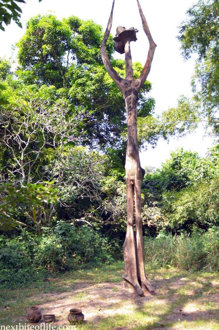 osun osogbo sacred grove god statue
