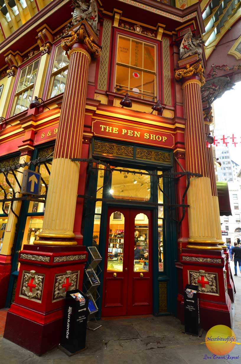 leadenhall market london pen store